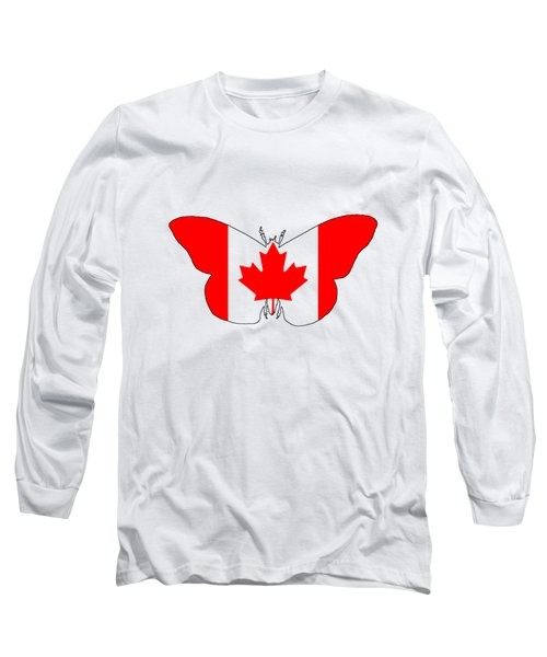 Butterfly Canada  Long Sleeve T-Shirt by Mordax Furittus