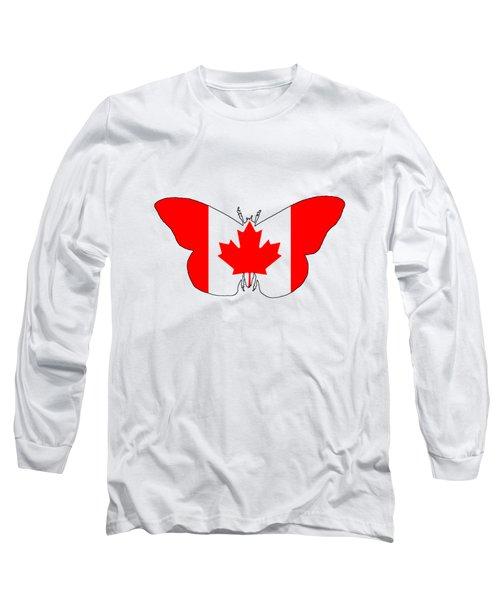 Butterfly Canada  Long Sleeve T-Shirt