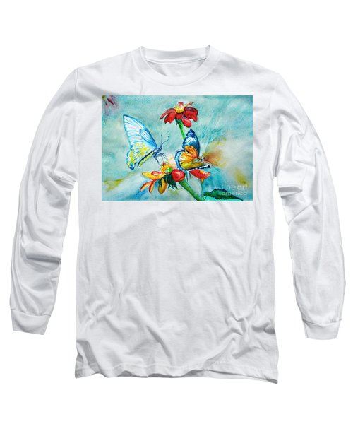 Butterfly Dance Long Sleeve T-Shirt by Jasna Dragun