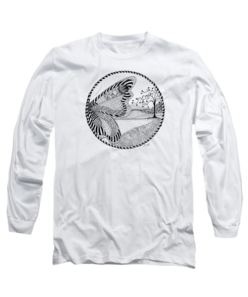 Butterfly Fantasy Long Sleeve T-Shirt by Ana V Ramirez