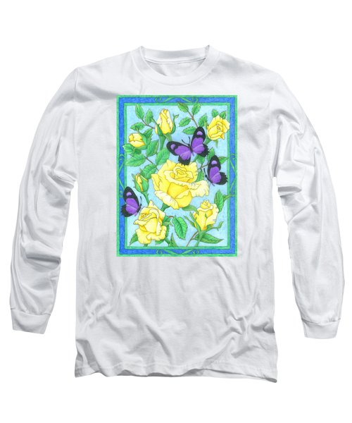 Butterfly Idyll-roses Long Sleeve T-Shirt