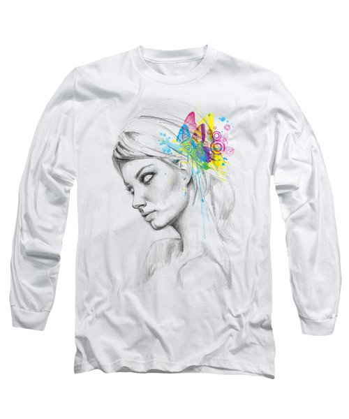 Butterfly Queen Long Sleeve T-Shirt by Olga Shvartsur