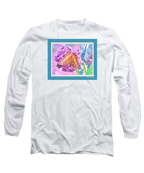 Long Sleeve T-Shirt featuring the photograph Butterfly Summer 2 by Shirley Moravec