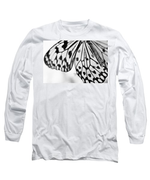Butterfly Wings 3 - Black And White Long Sleeve T-Shirt