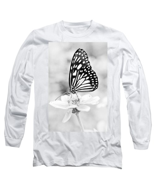 Butterfly Wings 7 - Black And White Long Sleeve T-Shirt