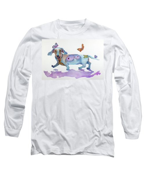 Butterfly Doxie Doo Long Sleeve T-Shirt