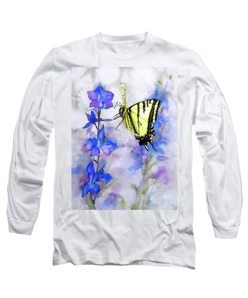 Long Sleeve T-Shirt featuring the painting Butteryfly Delight by Bonnie Rinier