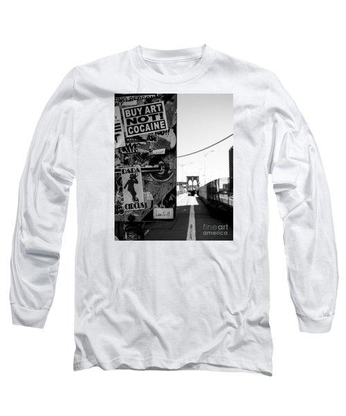 Buy Art Not Cocaine Long Sleeve T-Shirt