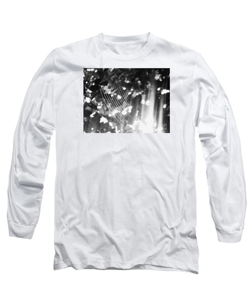 Long Sleeve T-Shirt featuring the photograph Bw Gossamer Glow by Megan Dirsa-DuBois