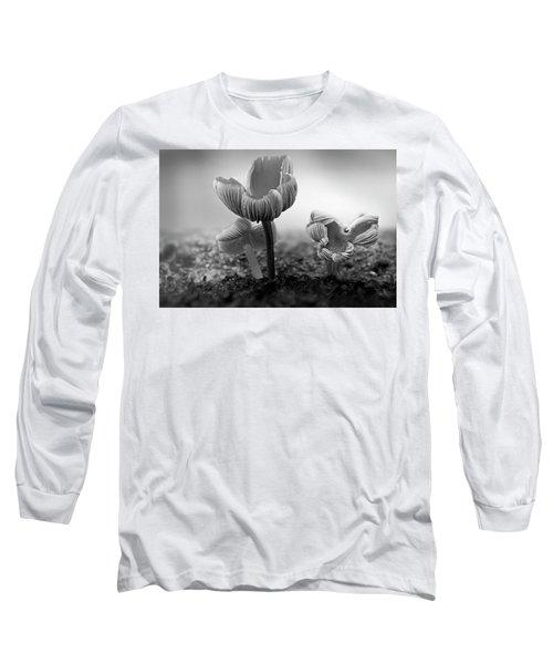 Bw Mushroom - 365- 232 Long Sleeve T-Shirt by Inge Riis McDonald