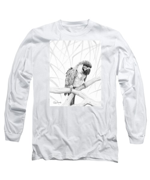 Bw Parrot Long Sleeve T-Shirt by Phyllis Howard