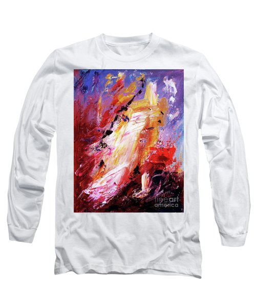 By Herself 3 Long Sleeve T-Shirt by Jasna Dragun