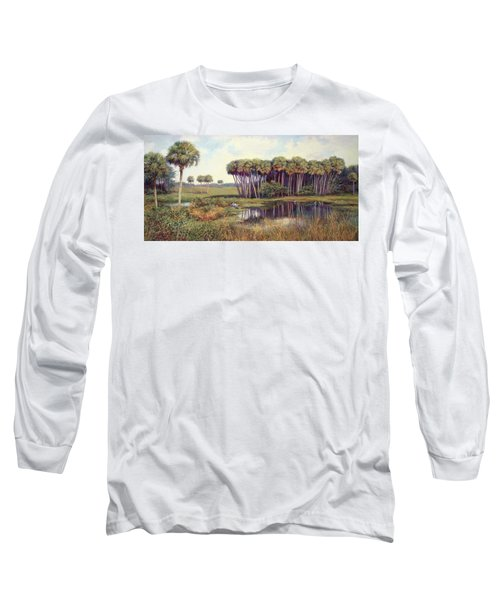Cabbage Palm Hammock Long Sleeve T-Shirt by Laurie Hein