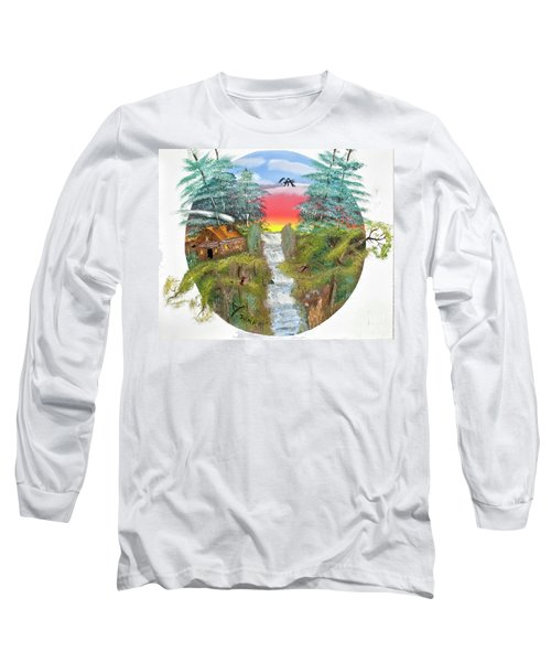 Cabin By The Falls Long Sleeve T-Shirt