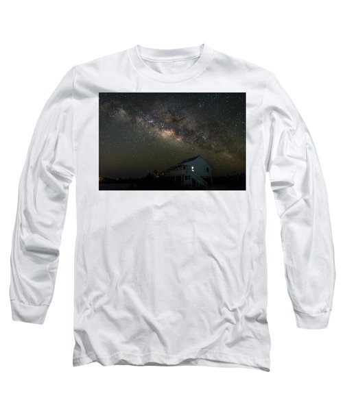 Cabin Under The Milky Way Long Sleeve T-Shirt