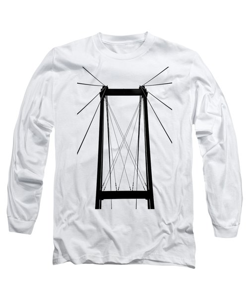 Cable Bridge Abstract Long Sleeve T-Shirt by Debbie Oppermann