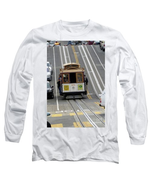 Long Sleeve T-Shirt featuring the photograph Cable Car by Steven Spak