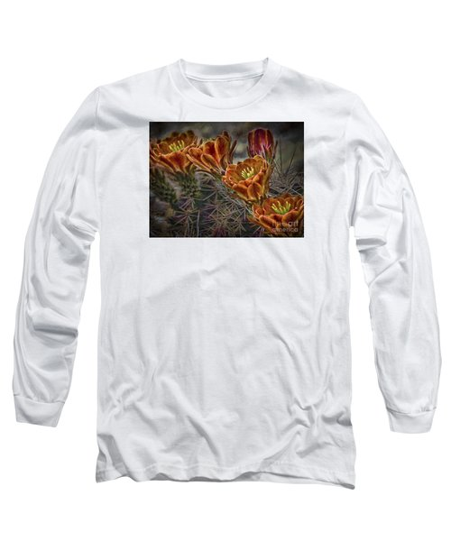 Long Sleeve T-Shirt featuring the photograph Cactus Flowers  ... by Chuck Caramella