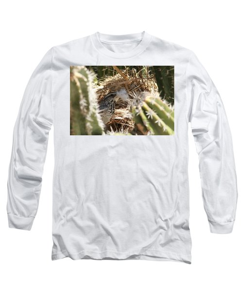 Cactus Wren Feather Long Sleeve T-Shirt
