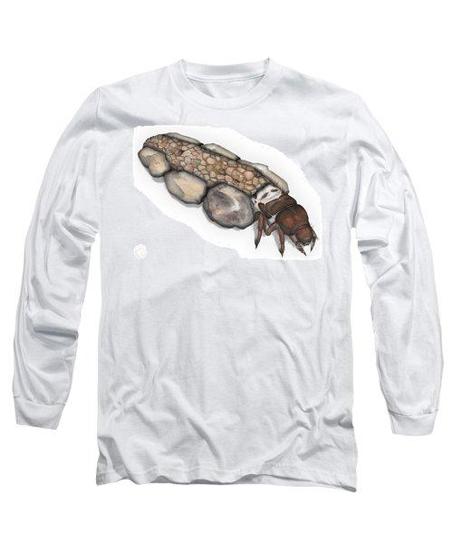 Caddisfly Larva Nymph Goeridae_silo_pallipes -  Long Sleeve T-Shirt