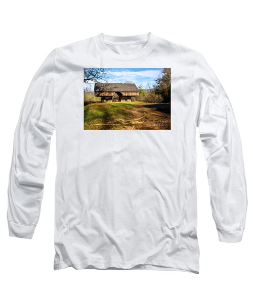 Cades Cover Cantilevered Barn Long Sleeve T-Shirt by Marilyn Carlyle Greiner