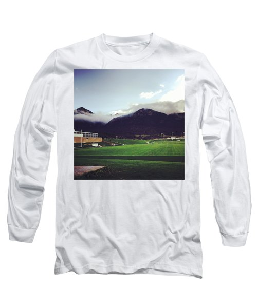 Long Sleeve T-Shirt featuring the photograph Cadet Athletic Fields by Christin Brodie
