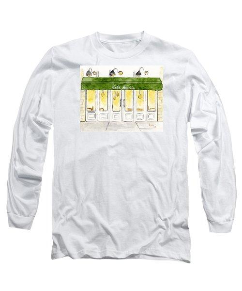 Cafe' Amrita  Long Sleeve T-Shirt by AFineLyne