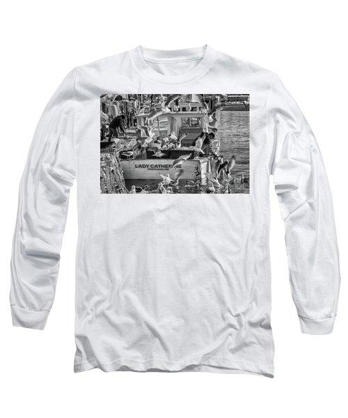 Cafe Lady Catherine Black And White Long Sleeve T-Shirt