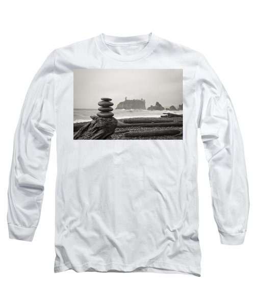 Cairn On A Beach Long Sleeve T-Shirt