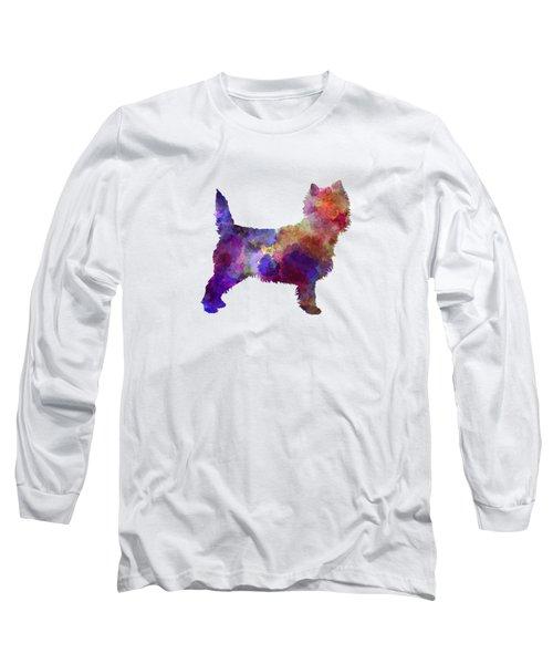 Cairn Terrier In Watercolor Long Sleeve T-Shirt