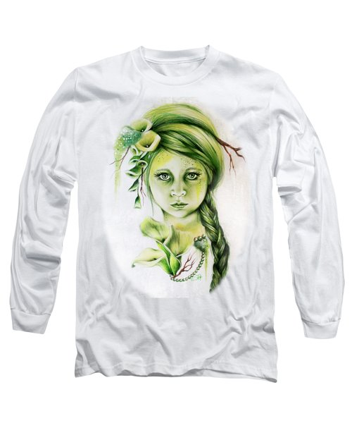 Long Sleeve T-Shirt featuring the drawing Cala by Sheena Pike