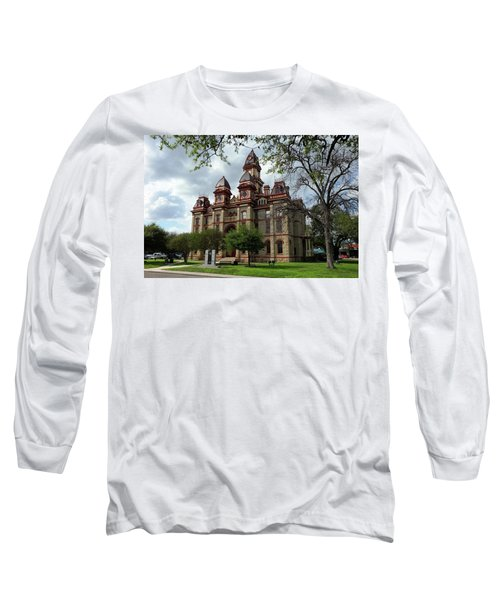 Caldwell County Courthouse Long Sleeve T-Shirt by Ricardo J Ruiz de Porras