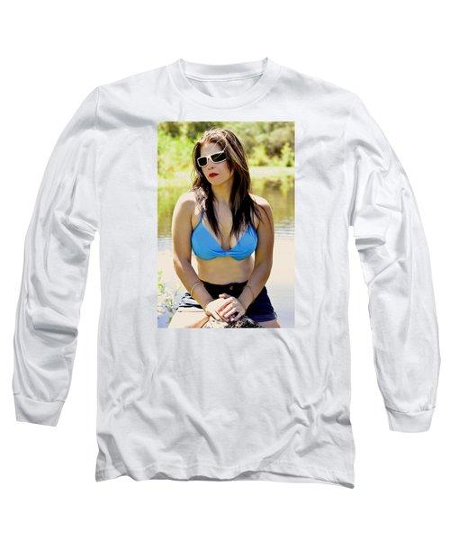 Calendar Girl  Long Sleeve T-Shirt by Pamela Patch