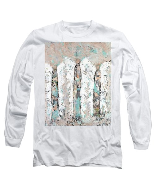 Calico Angel Trio Long Sleeve T-Shirt by Kirsten Reed