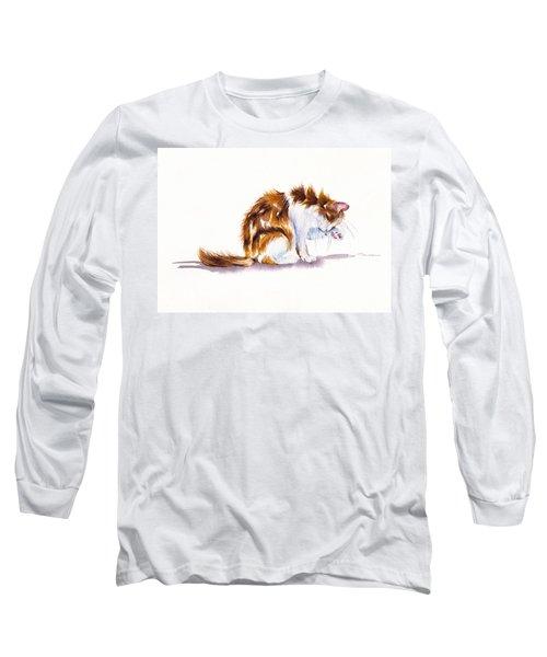 Calico Cat Washing Long Sleeve T-Shirt