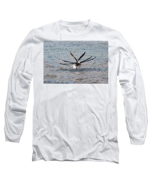 California Brown Pelicans Flying In Tandem Long Sleeve T-Shirt