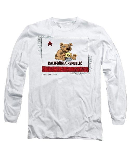 California Budget Begging Long Sleeve T-Shirt
