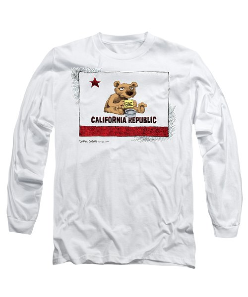 California Budget Begging Long Sleeve T-Shirt