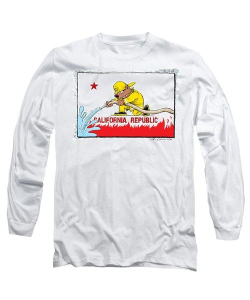 California Firefighter Flag Long Sleeve T-Shirt