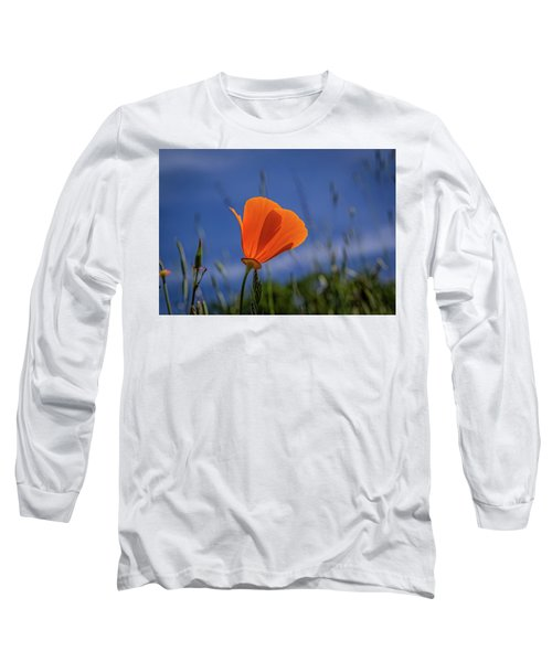 California Poppy Long Sleeve T-Shirt by Marc Crumpler