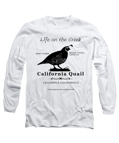 California Quail - White Long Sleeve T-Shirt