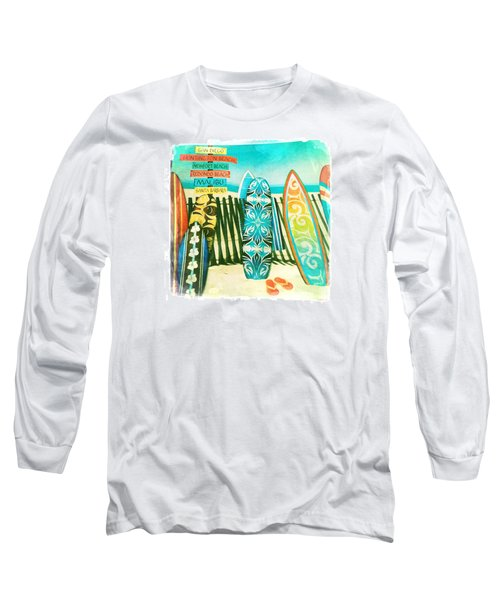 California Surfboards Long Sleeve T-Shirt by Nina Prommer