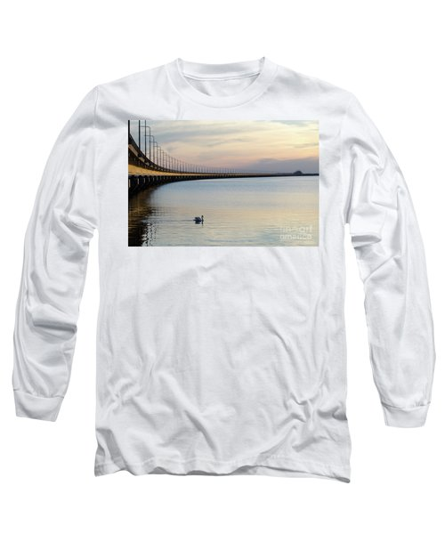 Calm Evening By The Bridge Long Sleeve T-Shirt by Kennerth and Birgitta Kullman