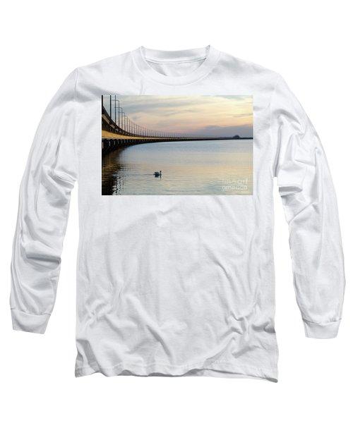 Calm Evening By The Bridge Long Sleeve T-Shirt