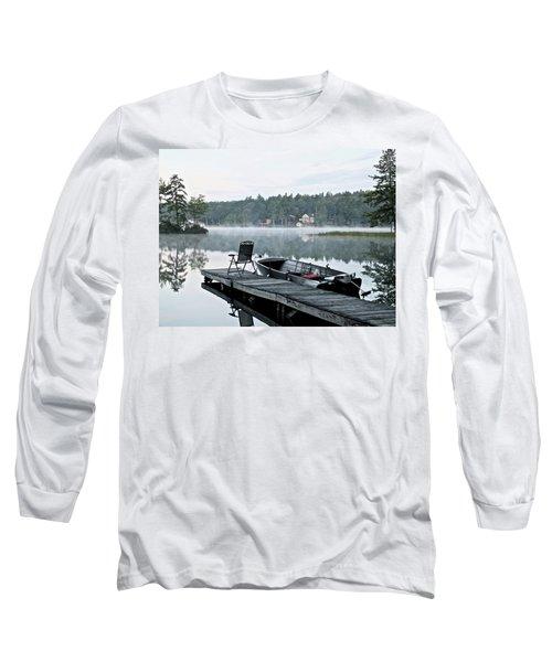 Calm Morning On Little Sebago Lake Long Sleeve T-Shirt