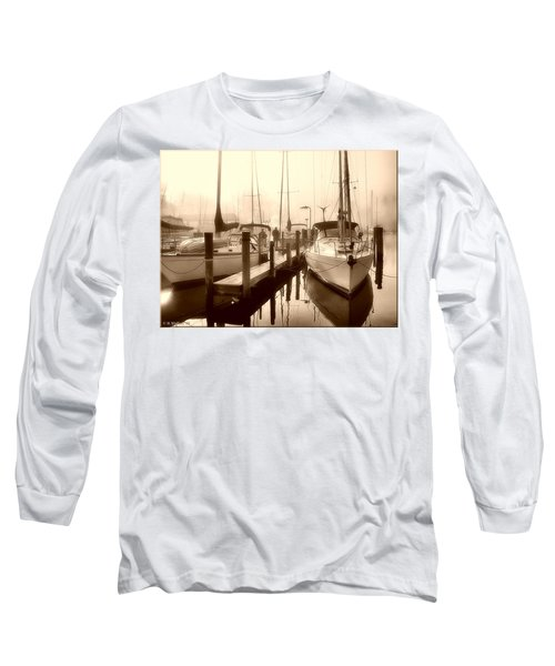 Long Sleeve T-Shirt featuring the photograph Calmly Docked by Brian Wallace