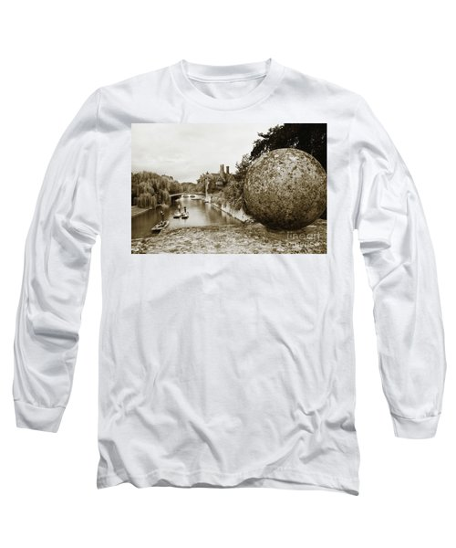 Cambridge Punting Sepia Long Sleeve T-Shirt by Eden Baed