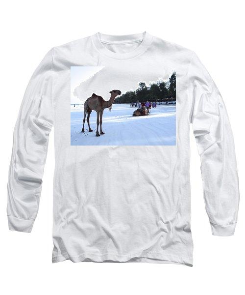 Camel On Beach Kenya Wedding 5 Long Sleeve T-Shirt