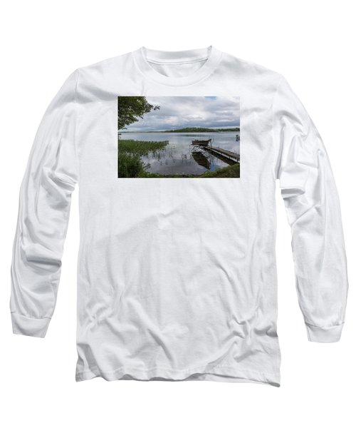 Camelot Island From Wilderness Point Long Sleeve T-Shirt by Gary Eason