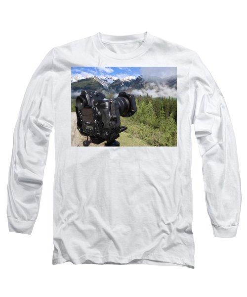 Camera Mountain Long Sleeve T-Shirt